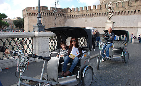 rome-with-kids-pedicab