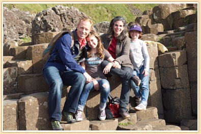 Pauline Frommer and Family Giant's Causeway Northern Ireland