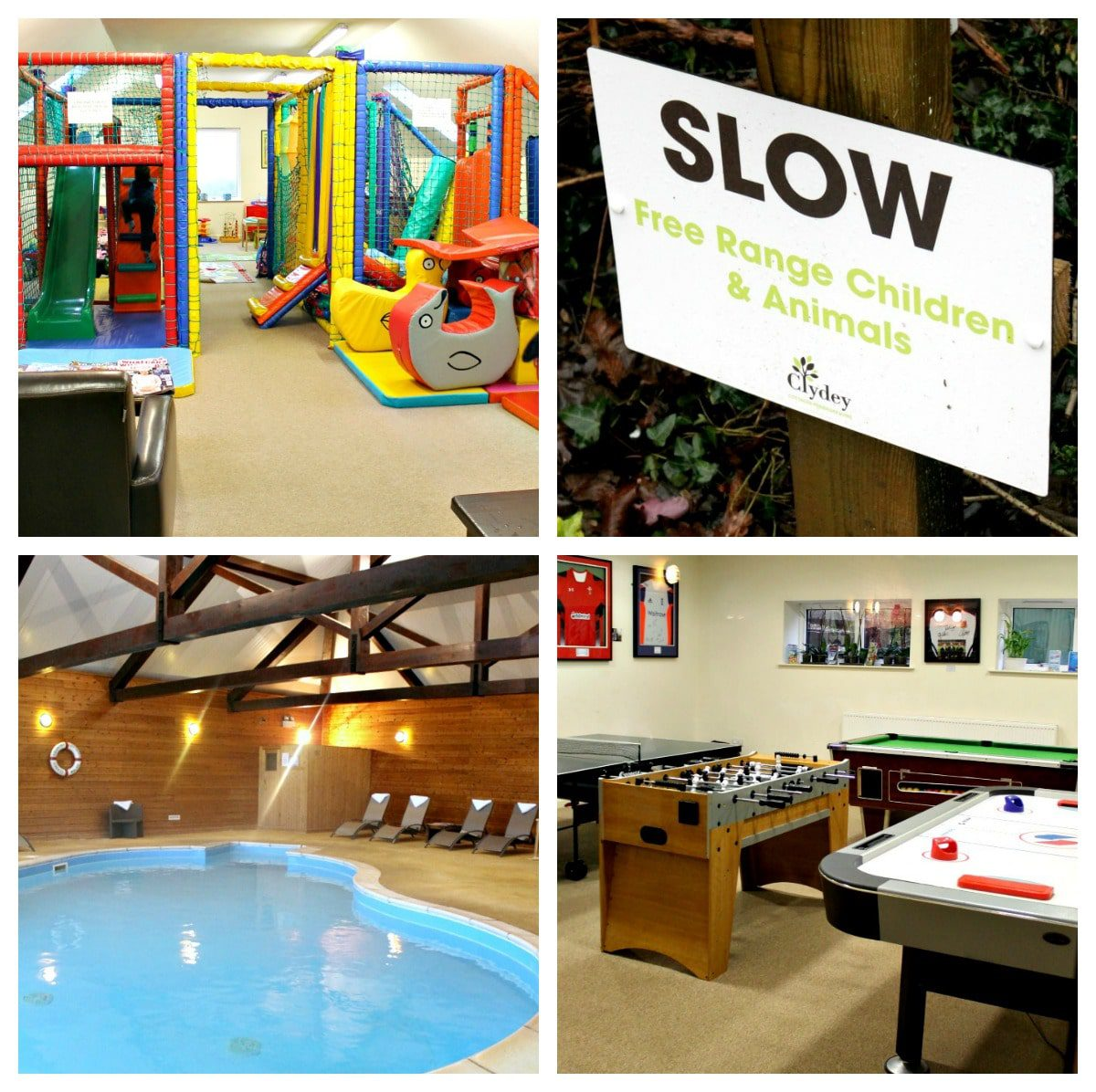 Amazing amenities abound at Clydey, from an indoor pool to numerous play areas.
