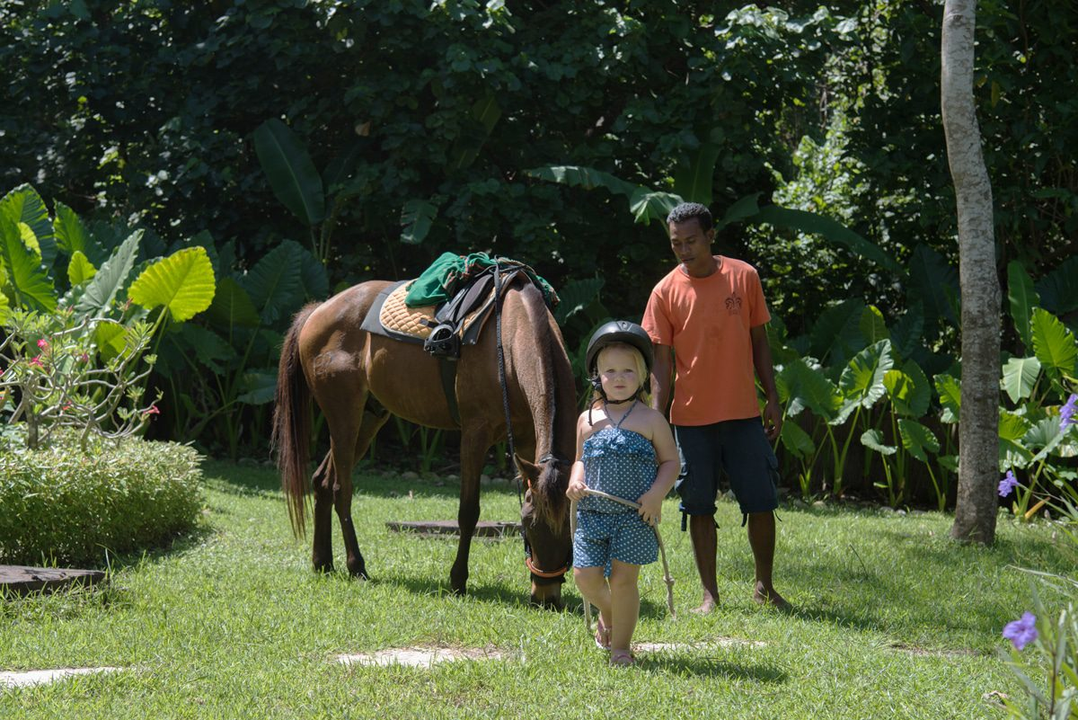 Little ones can get a taste of riding via the kids' pony club