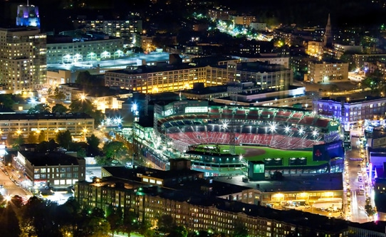 Overlooking Fenway Park Boston