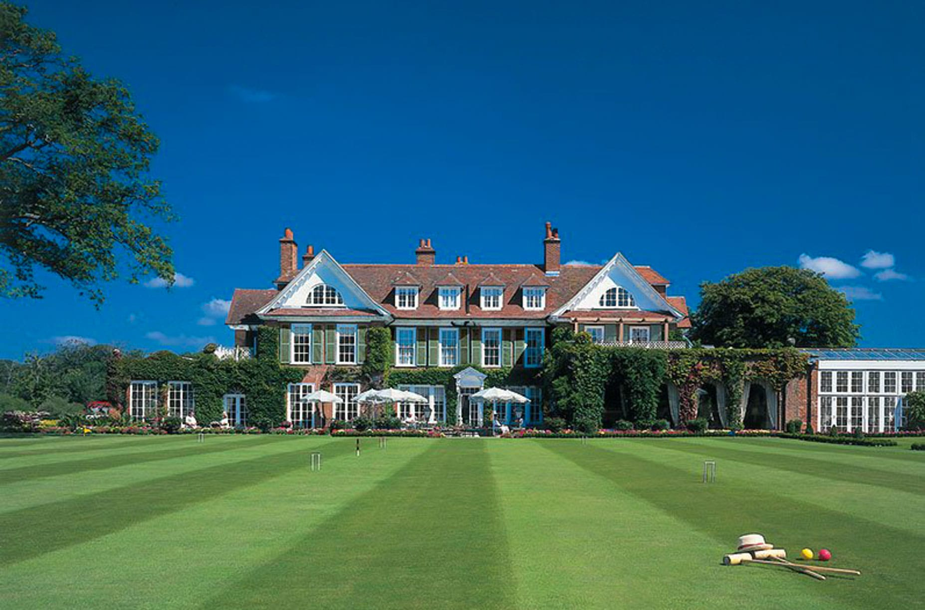 Chewton Glen croquet lawn